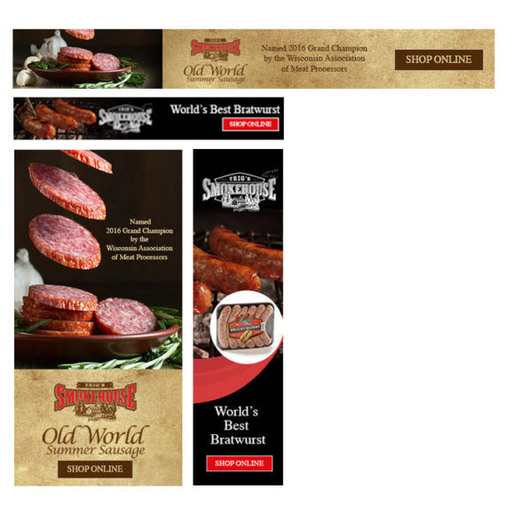 Trig's Smokehouse Digital Banner Ads created by Illumin8 marketing.