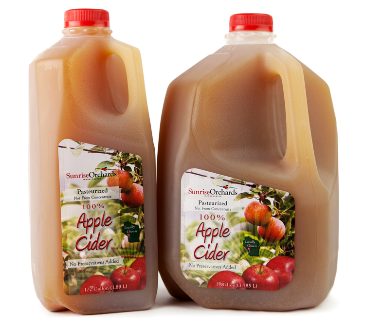 Sunrise Orchards Cider Labels