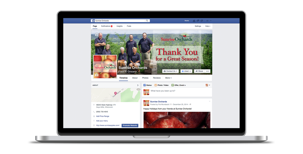 Sunrise Orchards Facebook Page