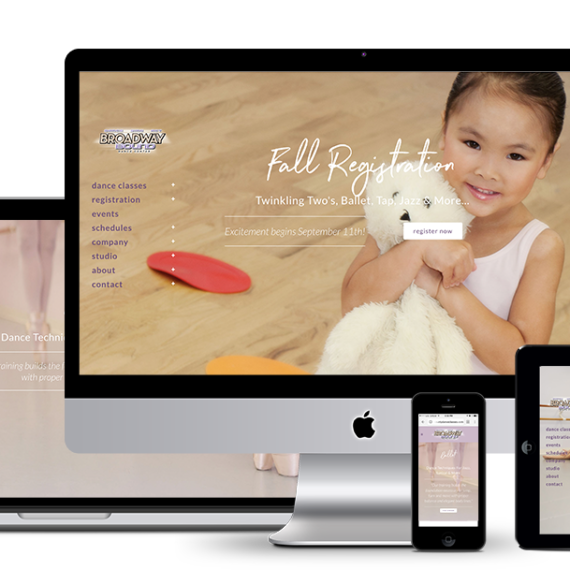 Responsive Website development for Broadway Bound Dance Center of Dumont NJ 2017 by illumin8 marketing.
