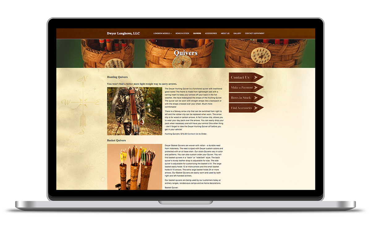 Image of quivers landing page designed by illumin8 marketing.