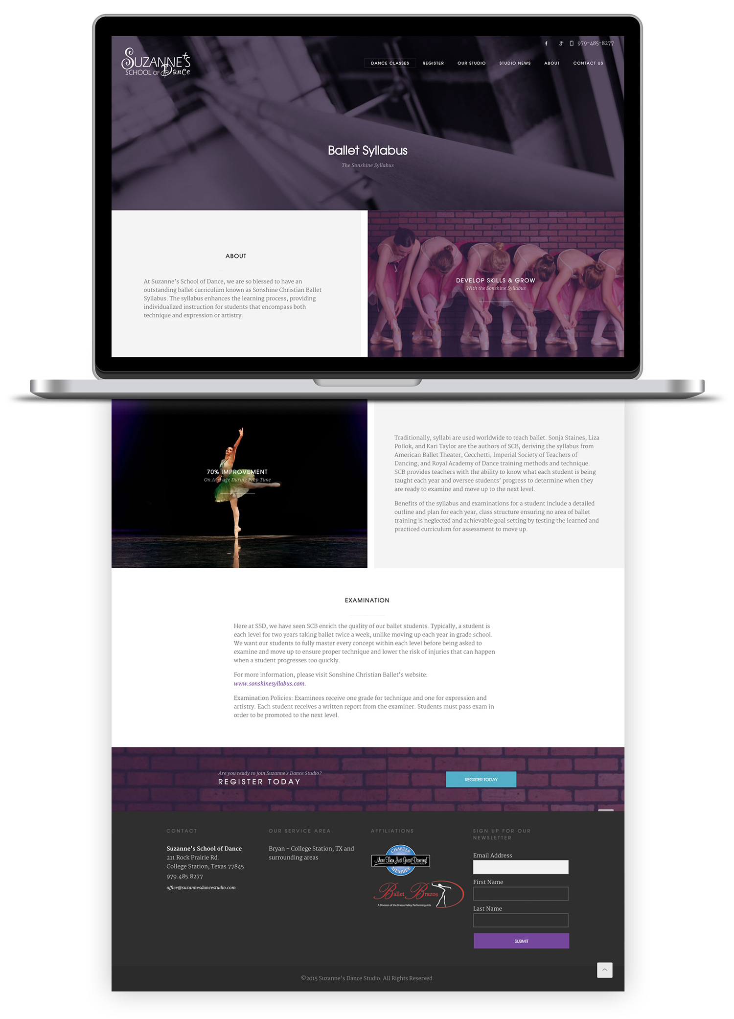 Image of Ballet Syllabus landing page.