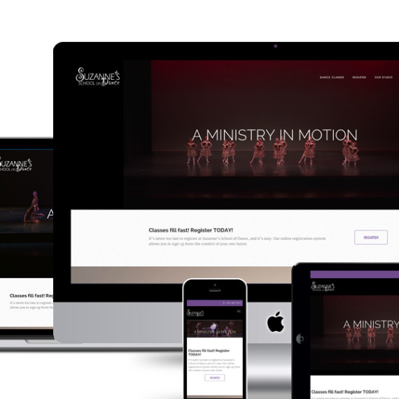 Suzanne's Dance responsive design image for our work.