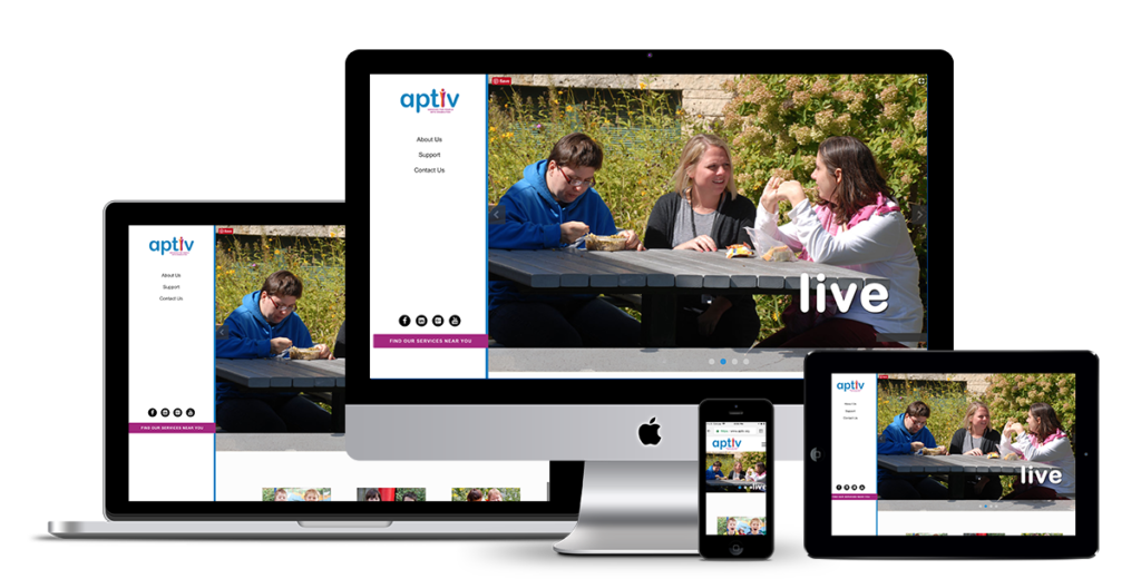 Website design and development for Aptiv, formerly known as Riverfront Inc. of LaCrosse by illumin8.