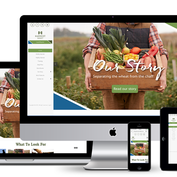 GoHarvestMarket website development by illumin8