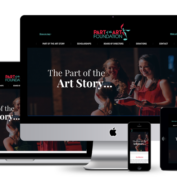 Website design and development for Part of the Art Foundation by illumin8.