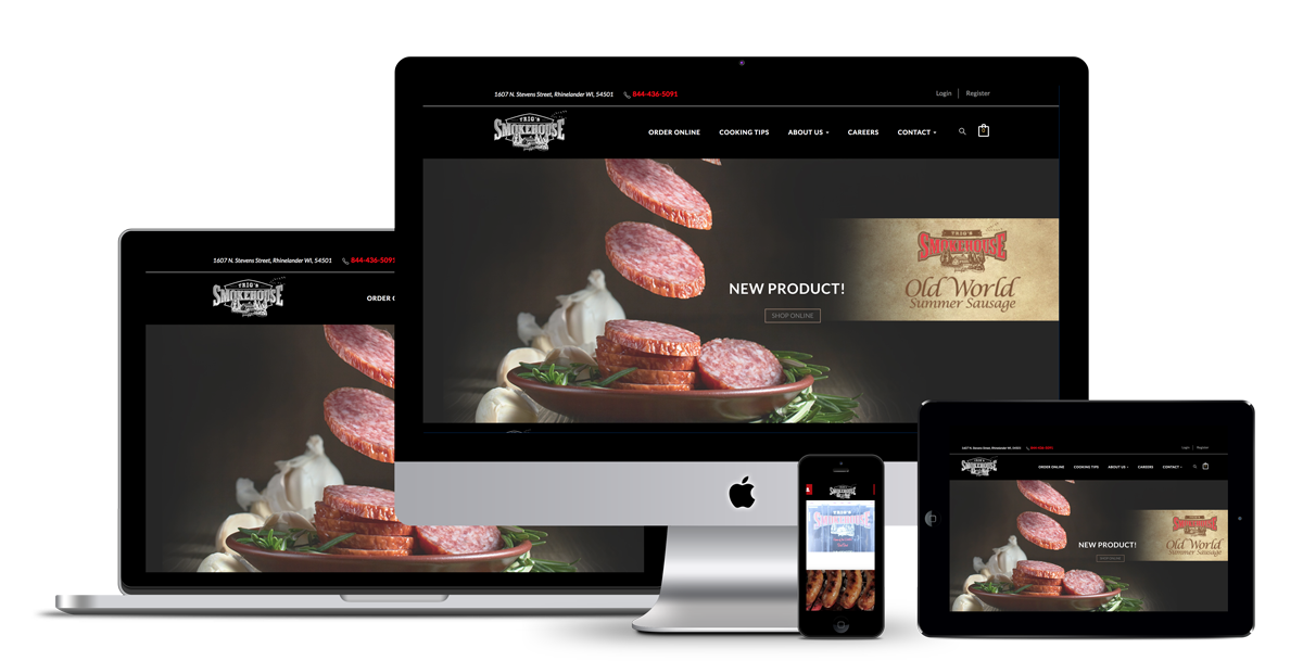 Responsive website built by illumin8 for Trig's Smokehouse of Rhinelander WI