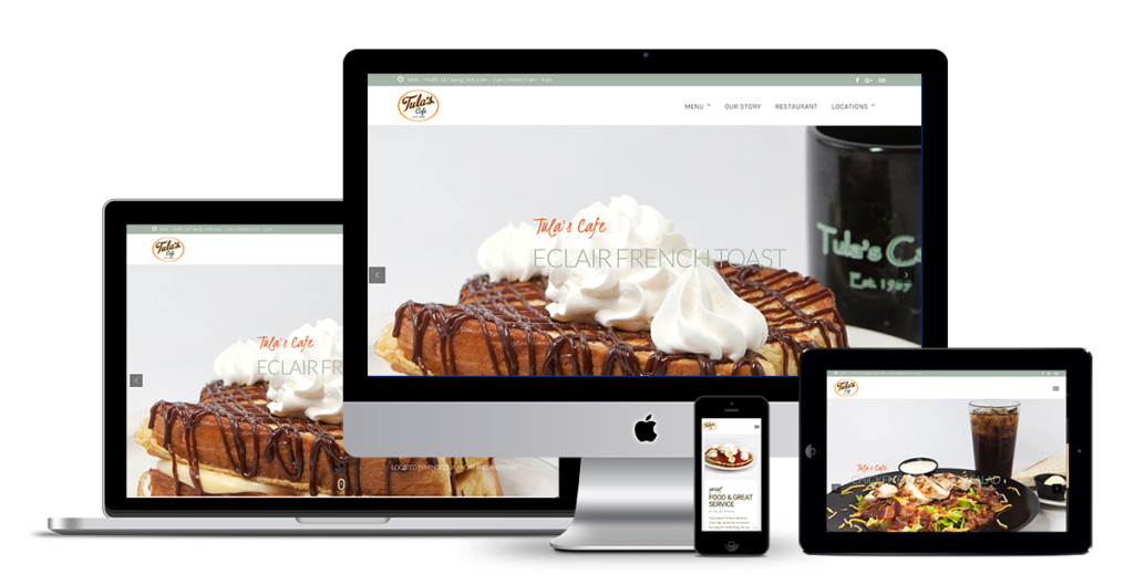image of Tulas Northwoods cafe responsive website design by illumin8